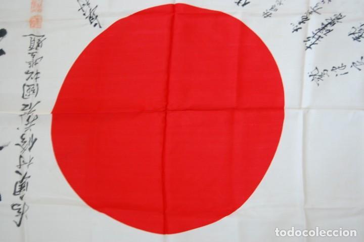 Militaria: RARISIMA BANDERA DE SEDA JAPONESA.HATA DE MR.OKUMURA.SEGUNDA GUERRA MUNDIAL - Foto 10 - 209968455