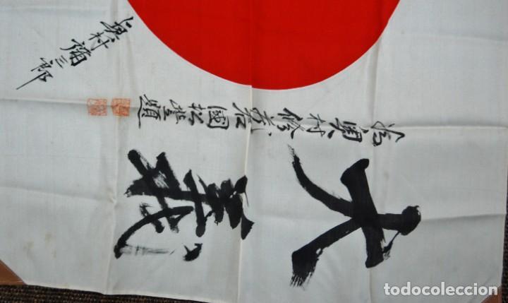 Militaria: RARISIMA BANDERA DE SEDA JAPONESA.HATA DE MR.OKUMURA.SEGUNDA GUERRA MUNDIAL - Foto 11 - 209968455