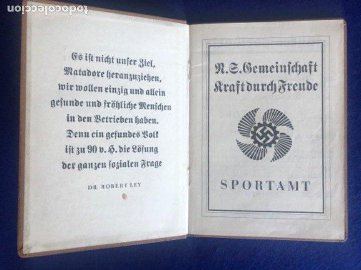 Militaria: Cartilla alemana original, Die Deutsche Arbeitsfron, Jahres Sportkarte - Foto 2 - 210063255