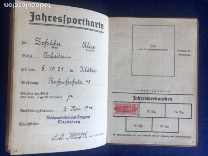 Militaria: Cartilla alemana original, Die Deutsche Arbeitsfron, Jahres Sportkarte - Foto 3 - 210063255