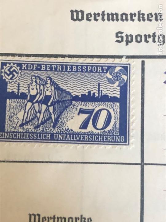 Militaria: Cartilla alemana original, Die Deutsche Arbeitsfron, Jahres Sportkarte - Foto 6 - 210063255