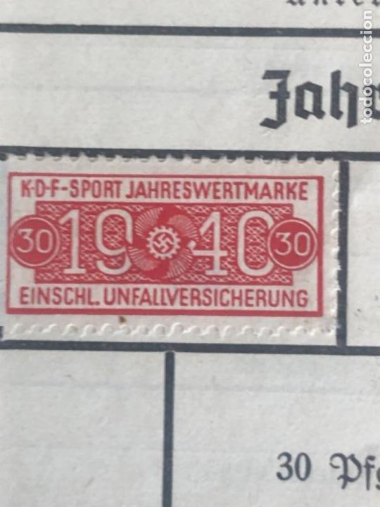 Militaria: Cartilla alemana original, Die Deutsche Arbeitsfron, Jahres Sportkarte - Foto 4 - 210063255