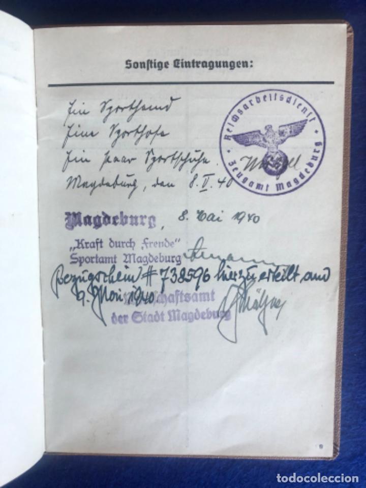 Militaria: Cartilla alemana original, Die Deutsche Arbeitsfron, Jahres Sportkarte - Foto 7 - 210063255