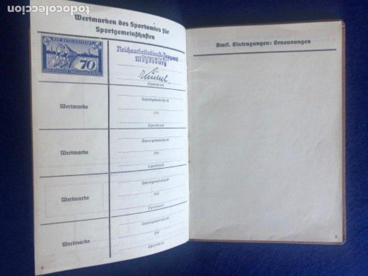Militaria: Cartilla alemana original, Die Deutsche Arbeitsfron, Jahres Sportkarte - Foto 5 - 210063255