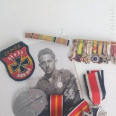 Militaria: LOTE PARCHES, CINTAS, ETC..CAMISA VIEJA FALANGE DIVISIÓN AZUL. Lote 210171850