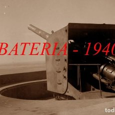 Militaria: BATERIAS DE COSTA - MENORCA - 1940'S - 3 NEGATIVOS DE CELULOIDE. Lote 210397183