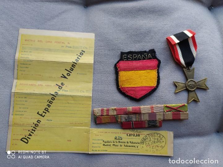 DIVISIÓN AZUL, LOTE ORIGINAL. (Militar - II Guerra Mundial)