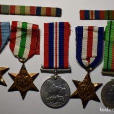 Militaria: GRUPO DE MEDALLAS SOLDADO CUERPO ORDENANZAS DE REINO UNIDO EN CAJITA ORIGINAL.2ª GUERRA MUNDIAL. Lote 210489482