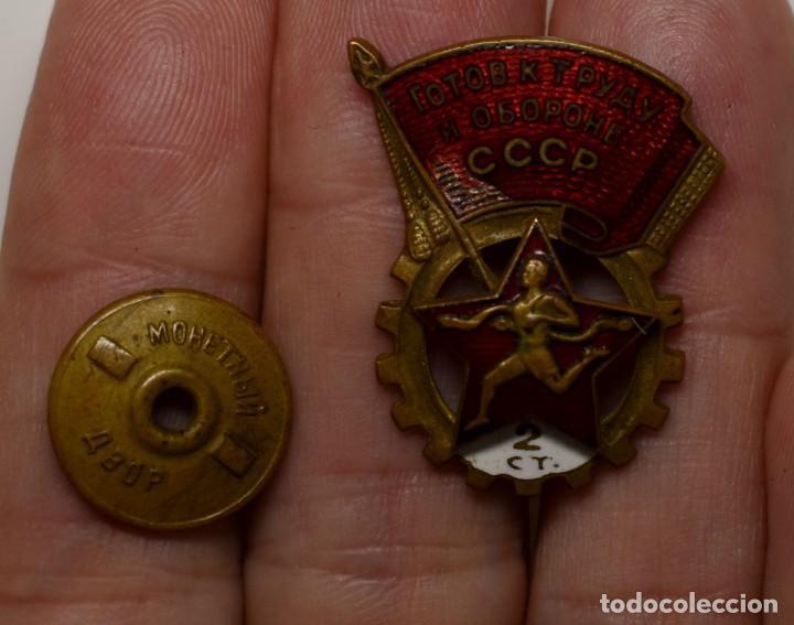 INSIGNIA DE LOGROS DEPORTIVOS GTO DE 2ª CLASE DE RUSIA DEL AÑO 1940.MUY BUEN ESTADO (Militar - II Guerra Mundial)