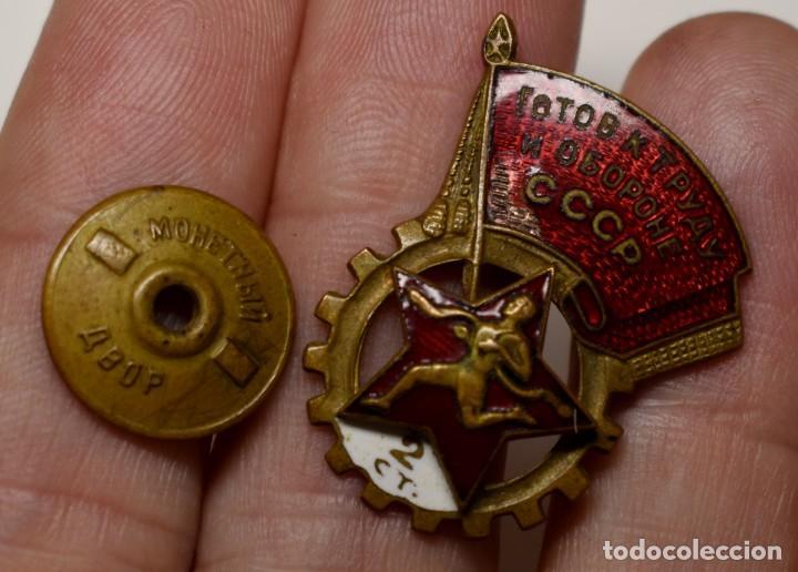 Militaria: INSIGNIA DE LOGROS DEPORTIVOS GTO de 2ª CLASE DE RUSIA DEL AÑO 1940.MUY BUEN ESTADO - Foto 2 - 210946122