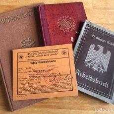 Militaria: 4 DOCUMENTOS NAZI TERCER REICH:ARBEITSBUCH,LIBRO FAMILIA,DAF...SEGUNDA GUERRA MUNDIAL. SUPERPRECIO!!. Lote 211586225