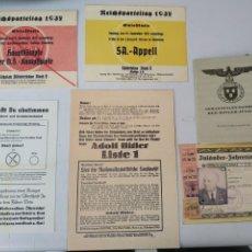 Militaria: LOTE DE DOCUMENTOS REPRO. Lote 211669809