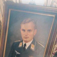 Militaria: RETRATO DE OFICIAL LUFTWAFFE EN OLEO. Lote 211852153