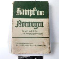 Militaria: KAMPF UM NORWEGEN WEHRMACHT BOOK SOLDIERS PHOTO GERMANY NAZI ALEMANIA NAZI ESVÁSTICA WWII. Lote 211983868