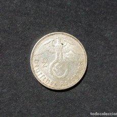 Militaria: ALEMANIA.- 2 MARCOS 1938. III REICH - PLATA - CRUZ GAMADA - ESVÁSTICA.. Lote 212115801