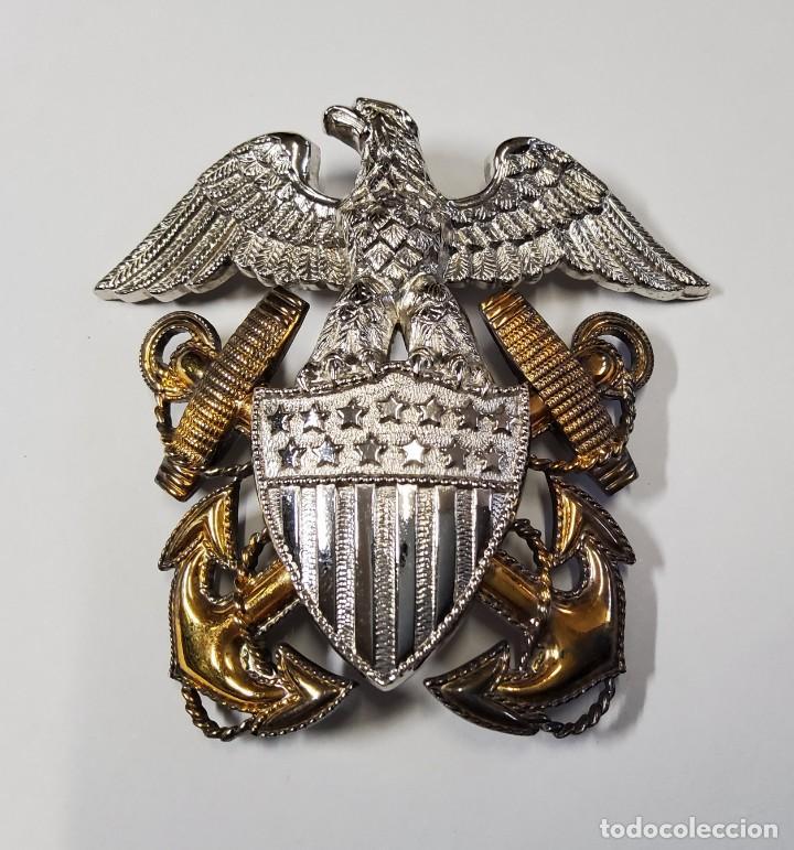 INSIGNIA PLATA Y ORO.OFICIAL DE MARINA DE GUERRA ESTADOS UNIDOS.SEGUNDA GUERRA MUNDIAL (Militar - II Guerra Mundial)