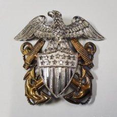 Militaria: INSIGNIA PLATA Y ORO.OFICIAL DE MARINA DE GUERRA ESTADOS UNIDOS.SEGUNDA GUERRA MUNDIAL. Lote 213818987