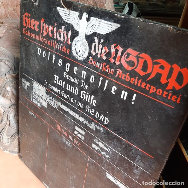 PLACA ESMALTADA DE JEFATURA LOCAL DE NSDAP (Militar - II Guerra Mundial)