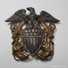 Militaria: INSIGNIA PLATA Y ORO.OFICIAL DE MARINA DE GUERRA ESTADOS UNIDOS.SEGUNDA GUERRA MUNDIAL. Lote 215435958