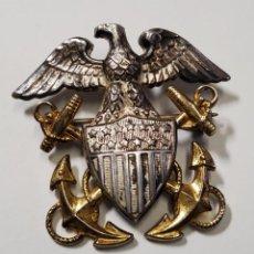 Militaria: INSIGNIA PLATA Y ORO.OFICIAL DE MARINA DE GUERRA ESTADOS UNIDOS.SEGUNDA GUERRA MUNDIAL. Lote 215436548