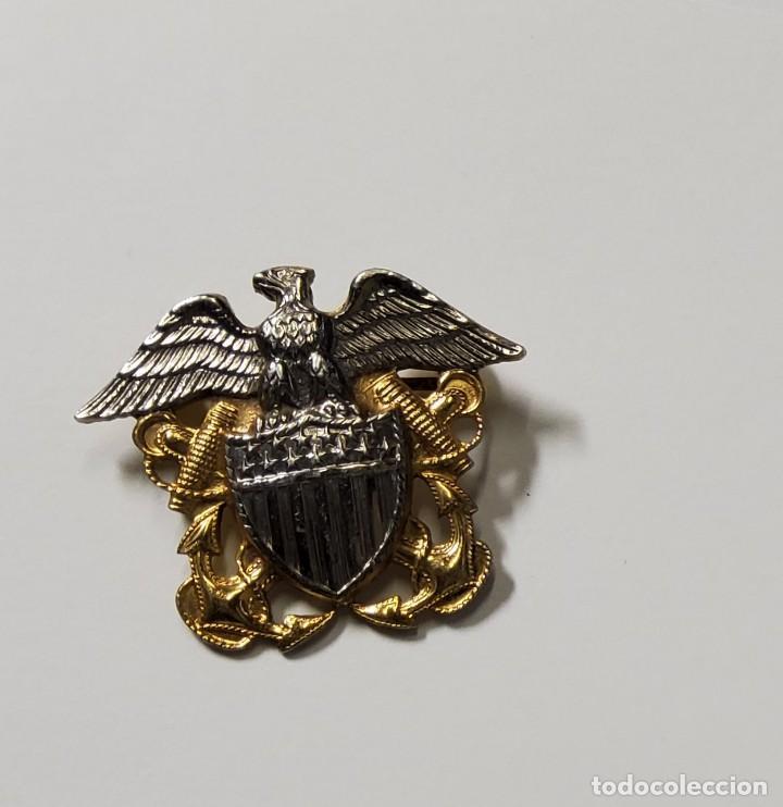 Militaria: INSIGNIA PLATA Y ORO.OFICIAL DE MARINA DE GUERRA ESTADOS UNIDOS.SEGUNDA GUERRA MUNDIAL - Foto 2 - 215795282