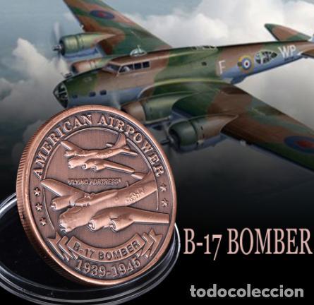 MONEDA CONMEMORATIVA B17 BOMBARDERO FUERZA AEREA ESTADOS UNIDOS - 2 GUERRA MUNDIAL (Militar - II Guerra Mundial)