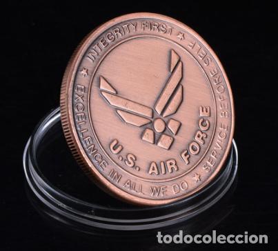 Militaria: MONEDA CONMEMORATIVA B17 BOMBARDERO FUERZA AEREA ESTADOS UNIDOS - 2 GUERRA MUNDIAL - Foto 3 - 215923570