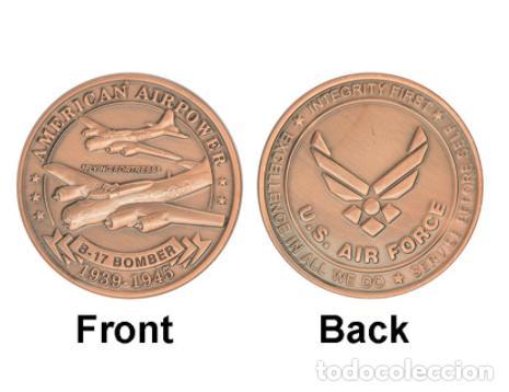 Militaria: MONEDA CONMEMORATIVA B17 BOMBARDERO FUERZA AEREA ESTADOS UNIDOS - 2 GUERRA MUNDIAL - Foto 4 - 215923570
