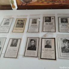 Militaria: LOTE DE 10 ESQUELAS II GUERRA MUNDIAL. Lote 215992521