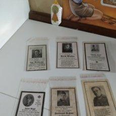 Militaria: 6 ESQUELAS ALEMANAS II GUERRA MUNDIAL. Lote 215993980