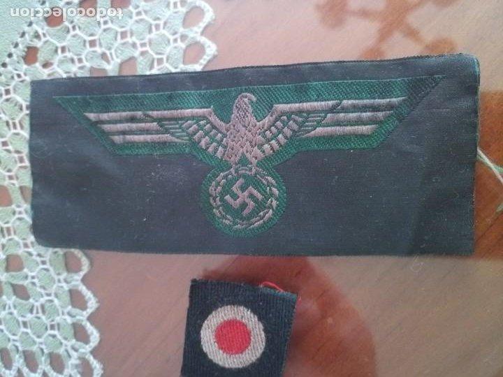 LOTE PARCHES TELA WERMATCH NAZI DIVISIÓN AZUL (Militar - II Guerra Mundial)