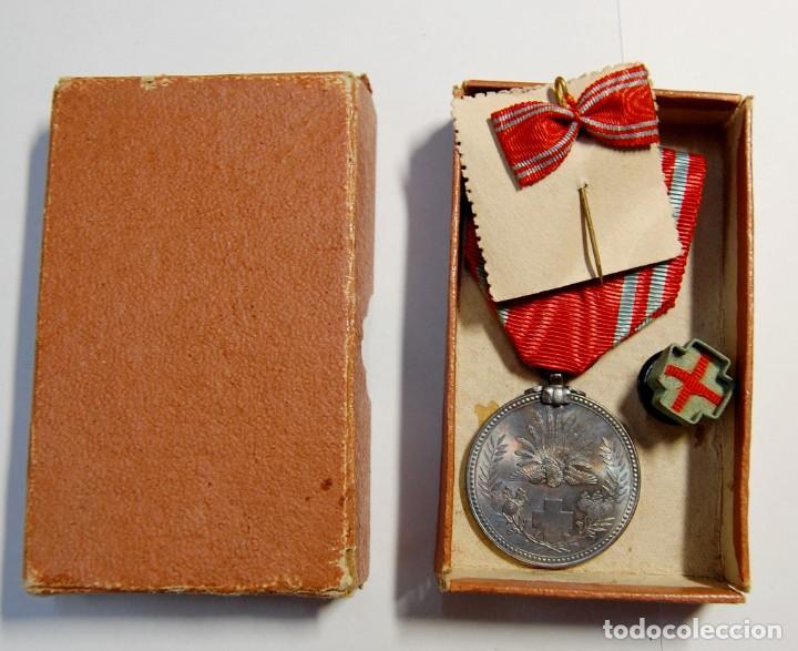 MEDALLA PLATA MACIZA AL MERITO DE LA CRUZ ROJA DE JAPON. 2ª GUERRA MUNDIAL. (Militar - II Guerra Mundial)