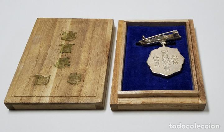 Militaria: MEDALLA PLATA MIEMBRO ASOCIACION MUJERES PATRIOTAS DE JAPON. 2ª GUERRA MUNDIAL. - Foto 2 - 218330118