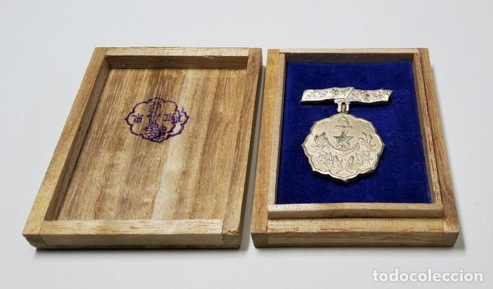 MEDALLA PLATA MIEMBRO ASOCIACION MUJERES PATRIOTAS DE JAPON. 2ª GUERRA MUNDIAL. (Militar - II Guerra Mundial)