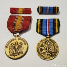 Militaria: 2 MEDALLAS Y SUS BARRITAS DE ESTADOS UNIDOS. SEGUNDA GUERRA MUNDIAL TODAS ORIGINALES. Lote 219265827