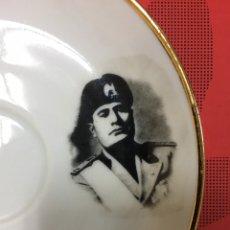Militaria: MUSSOLINI, PLATO DE PORCELANA ALEMANA, 13,5 CM DE DIÁMETRO. Lote 221099151