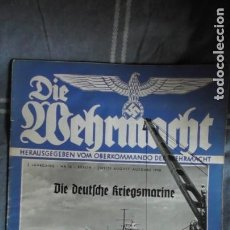 Militaria: EDICIÓN ESPECIAL DE LA REVISTA DIE WEHRMACHT DEDICADA A LA KRIEGMARINE, EDITADA EN BERLIN EN 1938.. Lote 221132201