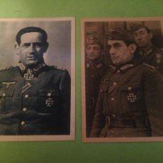 Militaria: 2 POSTAL DIVISION AZUL GENERAL MUÑOZ GRANDES. Lote 221488651