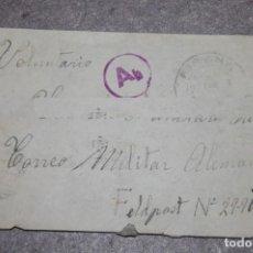 Militaria: SOBRE ORIGINAL DE 1943 FELDPOST SOLDADO DIVISION AZUL II GUERRA MUNDIAL. Lote 221896056