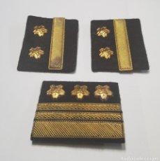 Militaria: LOTE DE GALONES DE LA MARINA DE GUERRA DE JAPON. SEGUNDA GUERRA MUNDIAL ORIGINALES. Lote 222012882