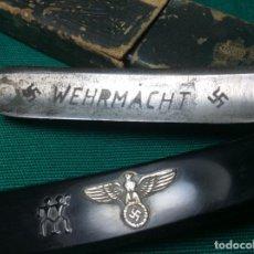 Militaria: NAVAJA DE AFEITAR ALEMANA SOLINGEN DE LA WEHRMACHT. Lote 222080838