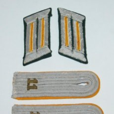 Militaria: INSIGNIAS DE LEUTNANT (ALFEREZ) DE REGIMIENTO 11 DE CABALLERIA DE LA WEHRMACHT. Lote 222141965
