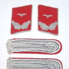 Militaria: INSIGNIAS DE LEUTNANT (ALFEREZ) DE REGIMIENTO DE ARTILLERIA ANTIAEREA DE LA LUFTWAFFE. Lote 222142590