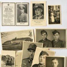 Militaria: LOTE MIXTO NAZI HITLER TERCER REICH PLACA INFANTERIA CRUZ DE HIERRO FOTOS,ESQUELAS. Lote 222311098