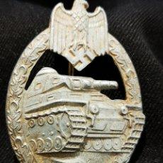 Militaria: DISTINTIVO ALEMÁN PANZER, ZINC ORIGINAL,. Lote 222876938