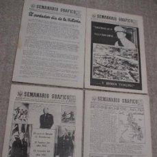 Militaria: SEMANARIO GRÁFICO, 8 REVISTAS DE LA EMBAJADA DE LOS ESTADOS UNIDOS, PRO ALIADOS 1944 Y 1945. Lote 222905972