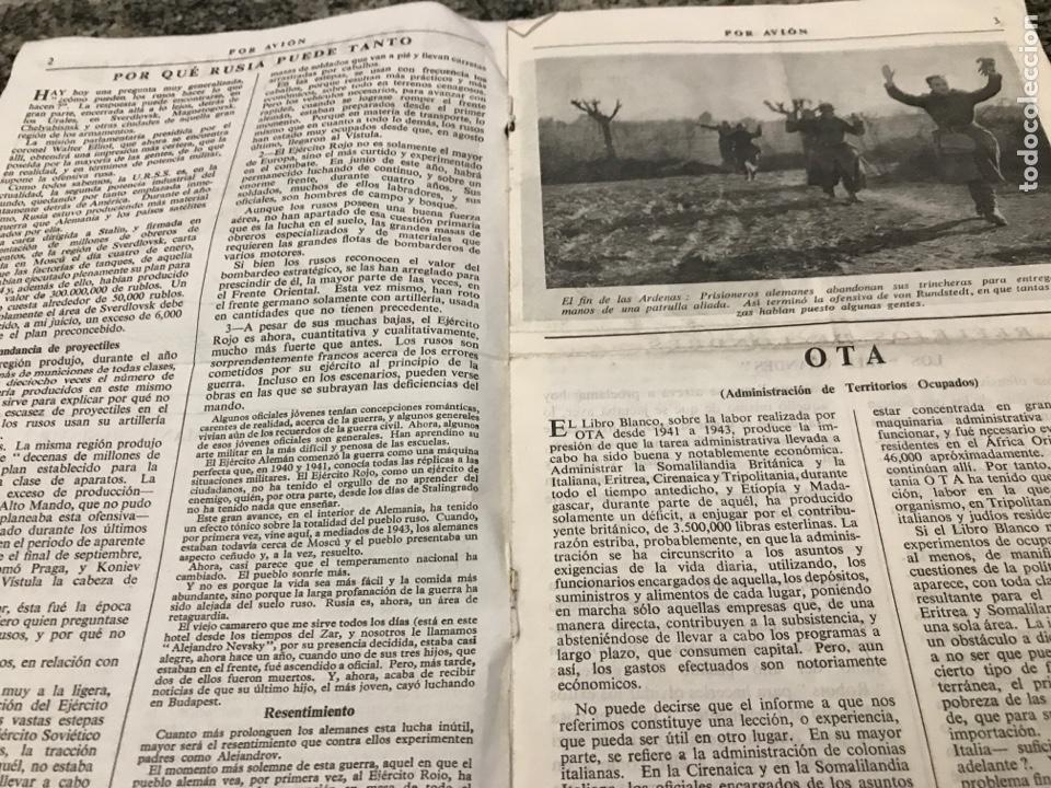 Militaria: Selecciones de la prensa inglesa POR AVIÓN febrero 1945 - Foto 2 - 223364076