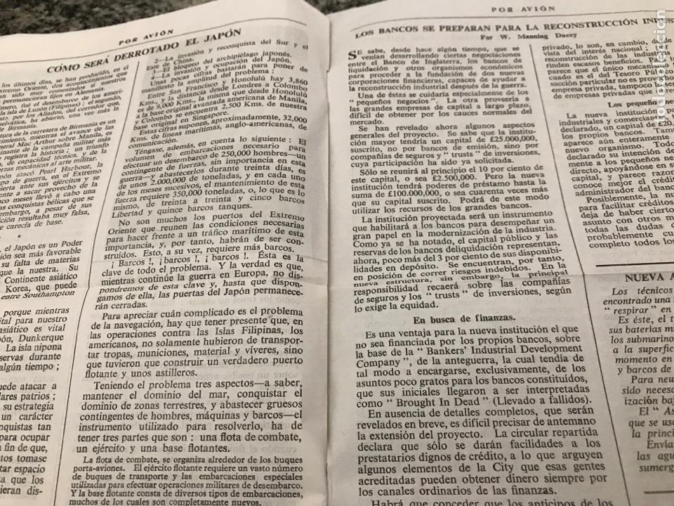 Militaria: Selecciones de la prensa inglesa POR AVIÓN febrero 1945 - Foto 4 - 223364076