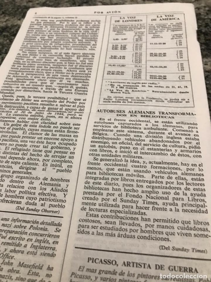 Militaria: Selecciones de la prensa inglesa POR AVIÓN febrero 1945 - Foto 5 - 223364076