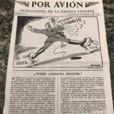 Militaria: SELECCIONES DE LA PRENSA INGLESA POR AVIÓN FEBRERO 1945. Lote 223364076